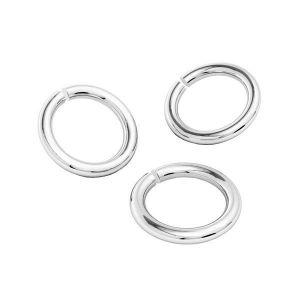 KC-0,95x4,00 (KC-6x6) - Argent anneaux ouverts 6mm