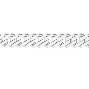 Chaine au metre - rombo*argent 925*RD  60