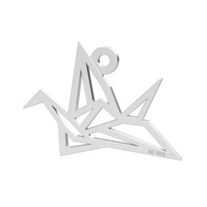 Oiseau origami pendentif, LK-0364 - 0,50