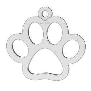 Patte de chien pendentif, LK-0365 - 0,50