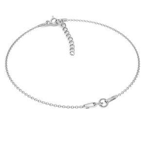 Base de bracelet*argent 925*BRACELET 18 (A 030) + R1 50 15-19 cm