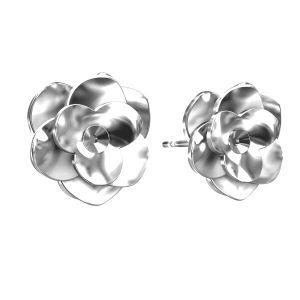 Rose des boucles d'oreilles ODL-00041 KLS