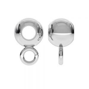 CON 1 P2L 6,0 F:3,2 - Perle boule, argent 925