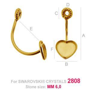 Boucles d'oreilles battantes - HKSV 2808 6MM