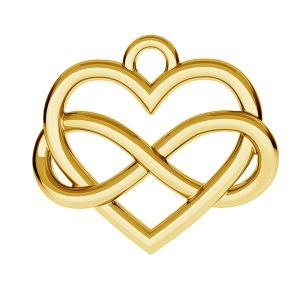 Infini signe avec coeur pendentif ODL-00168