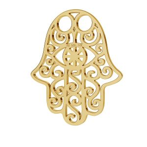Hamsa main or pendentif 14K or LKZ-00001 - 0,30 mm