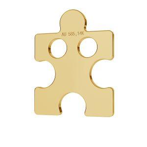 Puzzle or pendentif 14K or LKZ-00003 - 0,30 mm