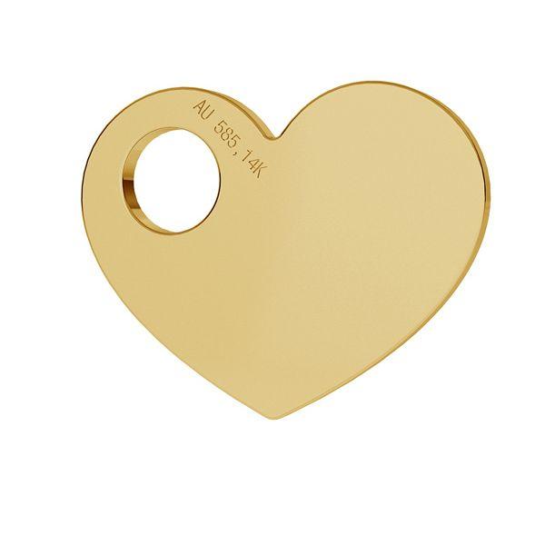 Cœur or pendentif 14K or LKZ-00014 - 0,30 mm