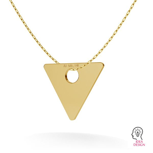 Triangle or pendentif 14K or LKZ-00016 - 0,30 mm