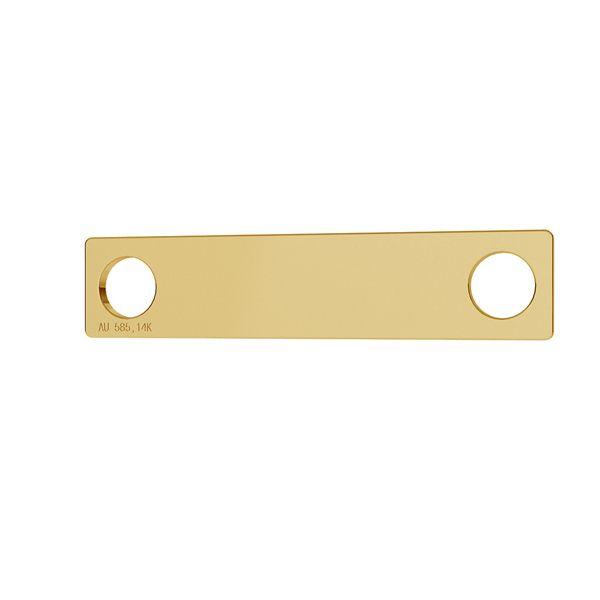 Rectangle or pendentif 14K or LKZ-00018 - 0,30 mm
