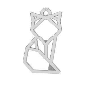 Renard d'origami pendentif, LK-0649 - 0,50 10x17 mm