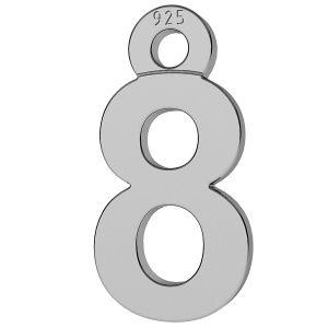 Chiffre 8 pendentif, LK-0713 - 0,50