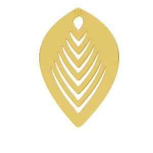 Feuille pendentif, LK-0789 - 0,50