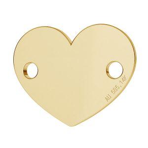 Cœur pendentif or 14K or LKZ-00462 - 0,30 mm