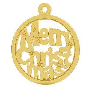 Merry Christmas pendentif LK-1048 - 0,50