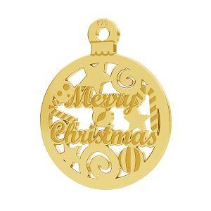 Merry Christmas pendentif LK-1087 - 0,50