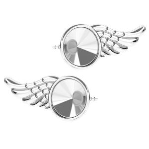Aile des boucles d'oreilles 6mm ODL-00266 L+R (1122 SS 29)