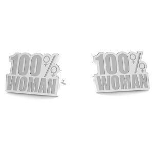 100% Woman boucles d'oreilles LK-1189- 0,50 - KLS