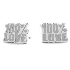 100% Love boucles d'oreilles LK-1193 - 0,50 - KLS