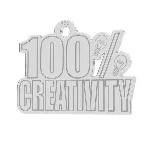 100% Creativity pendentif, LK-1184 - 0,50