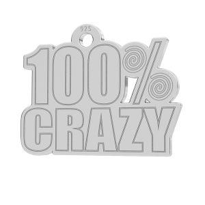 100% Crazy pendentif, LK-1186 - 0,50