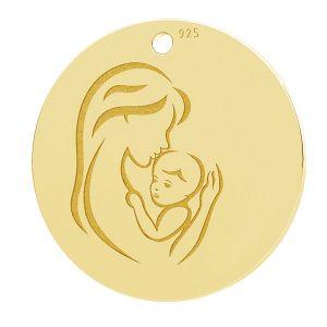 Mère et enfant pendentif, LK-1290 - 0,50