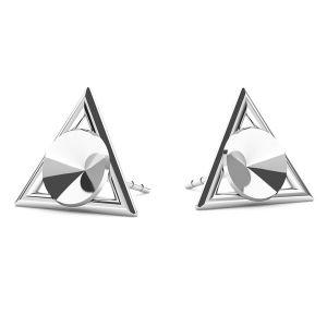 Triangle des boucles d'oreilles Swarovski 6mm, argent 925, ODL-00315 KLS (1122 SS 29)