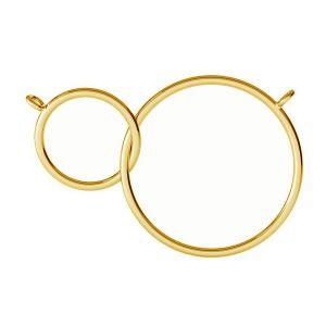 Pendentif karma à double anneau, S-PENDANT 003