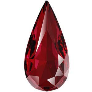 Teardrop Fancy Stone, Swarovski Crystals, 4322 MM 10,0X 5,0 SCARLET F
