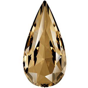 Teardrop Fancy Stone, Swarovski Crystals, 4322 MM 10,0X 5,0 CRYSTAL GOL.SHADOW F