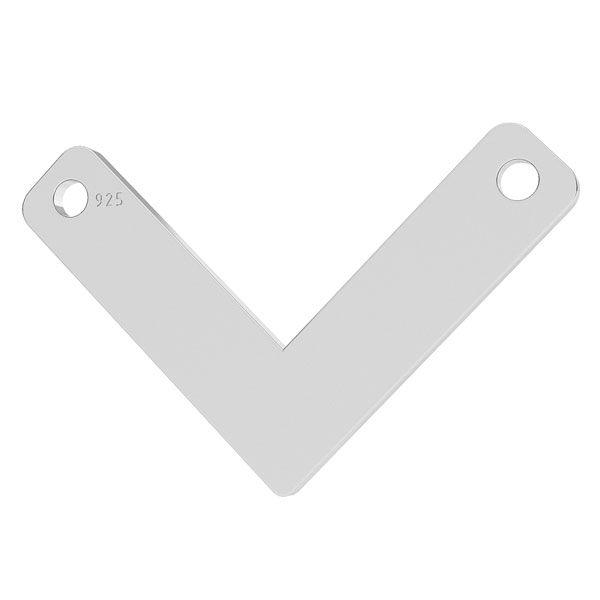 V pendentif, argent 925, LK-1073 - 0,50