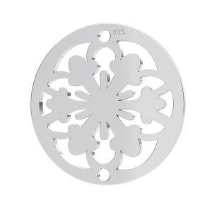 Rosette pendentif, argent 925, LK-1259 - 0,50