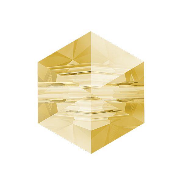 Hexagon Spike Bead, Swarovski Crystals, 5060 MM 5,5 CRYSTAL GOL.SHADOW