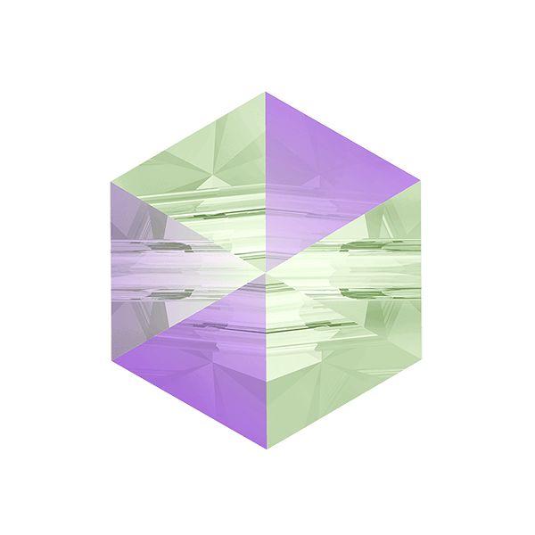 Hexagon Spike Bead, Swarovski Crystals, 5060 MM 5,5 CRYSTAL PARADISE SHINE