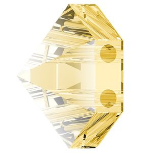 Hexagon Spike Bead, Swarovski Crystals, 5060 MM 7,5 CRYSTAL GOLDEN SHADOW