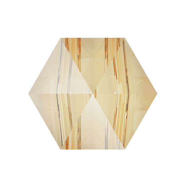 Hexagon Spike Bead, Swarovski Crystals, 5060 MM 7,5 CRYSTAL GOLDEN SHADOW
