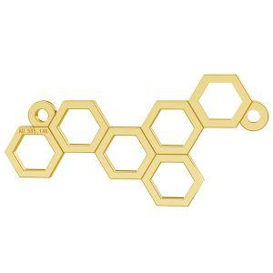 Rayon de miel pendentif, or 14K, LKZ-00348 - 0,30