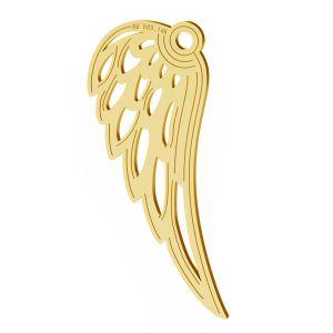 Ailes d'anges pendentif, or 14K, LKZ-01305 - 0,30