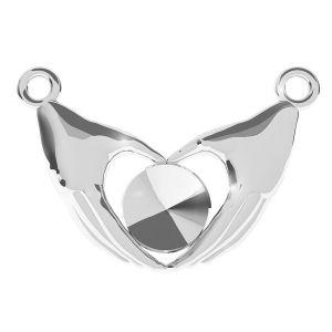 Coeur de double main pendentif Rivoli 6mm, argent 925, ODL-00334 (1122 SS 29)