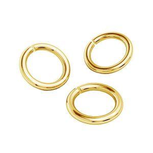 Or anneaux ouverts AU 585 14K, KC-0,80x4,25