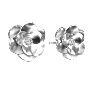 Rose des boucles d'oreilles ODL-00041 KLS - CRYSTAL