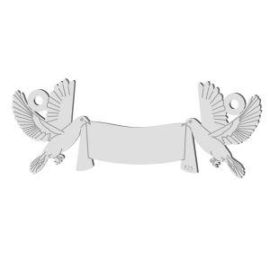 Mariage pigeon pendentif, LK-1366 - 0,50