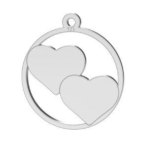 Cœur pendentif, LK-1367 - 0,50