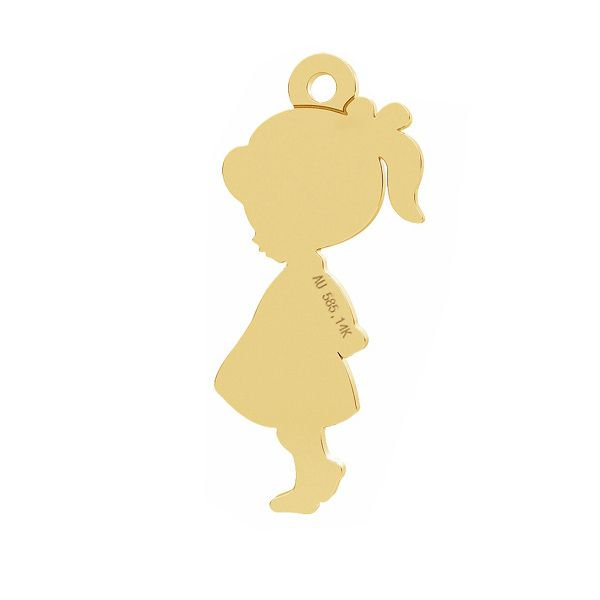 Fille pendentif, or 14K, LKZ-01283 - 0,30