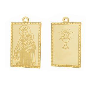 Notre médaillon de dame Fatima pendentif, or 14K, LKZ-01373 - 0,30