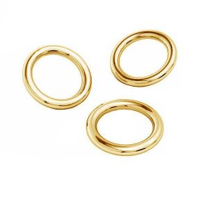 Or anneaux ouverts AU 585 14K, KC-0,80x2,15