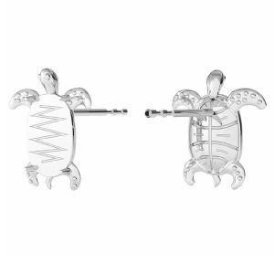 Boucles d'oreilles tortue, ODL-00368 KLS (2602 MM 8,0X 5,5)