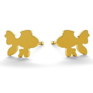 Poisson boucles d'oreilles, argent 925, LK-0615 KLS - 0,50