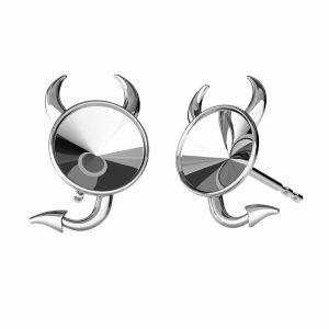 Base ronde boucle d'oreilles, ODL-00377 KLS (1122 SS 29)