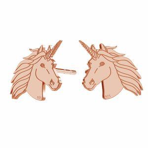 Licorne boucles d'oreilles, argent 925, LK-1397 KLS - 0,50